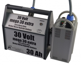 Battery Pack Mega Xtra 30 - Single - Grey with White trim