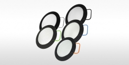 DROP-IN lens, narrow flood, small rectangle, black