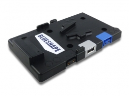 Universal Metal VPLATE with 2 Dtap outputs + 1 USB