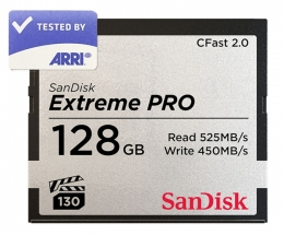 SanDisk CFast 2.0 128GB Memory Card ARRI Tested