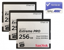 SanDisk CFast2.0 Card Set 3x 256GB