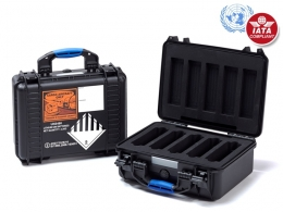 UN Certified Flight Case for 5 Batteries