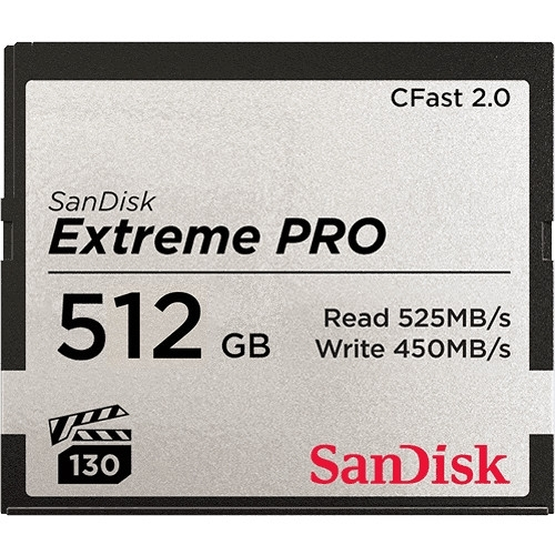 512GB Extreme PRO CFast 2.0 Memory Card