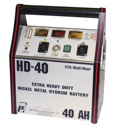 Battery Pack HD40 - Black with Red trim