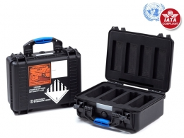 UN Certified Flight Case for 4 Batteries