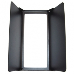 2-leaf barndoor, square, Caster-Series