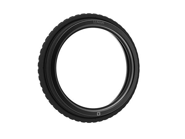 143mm Rubber Donut - 114 mm with Metal Threaded Ri