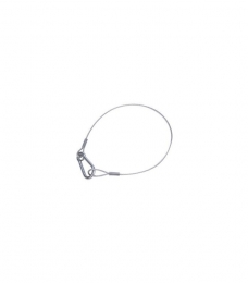 Safety cable (4mm) 1m, with Carabiner