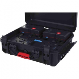 Power Station in Rugged case for 4 batteries, tria